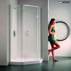 Matki Illusion Quintesse Shower Enclosure with Integrated Shower Tray Corner Shower Enclosures, Illusions, The Originals, Bathroom, House, Ideas, Washroom, Home, Full Bath