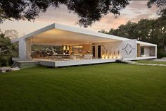 This modern marvel is the magnum opus of California based architect Steve Hermann. Now listed at Sotheby's for sale at $24,000,000, this 14,000 square feet 5 bedroom wonder seemingly also includes a vintage car collection. The architecture is iconic and the architect's obsessive attention to detail shows through in every shot of the home.