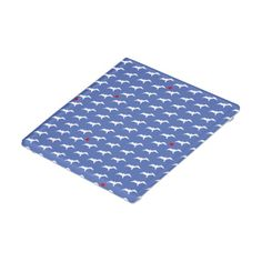 Patterned Blue and White Bird Glass Coaster to protect table from drink circles.