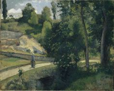 Camille Pissarro (1830-1903) Quarry, Pontoise (c. 1874) oil on canvas 22.87 x 28.5 in. Kunstmuseum Basel