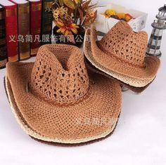 0b537005 Free shipping spring summer autumn quality Beach Hat men cowboy hat women  wide brim Straw hat Panama hat Visor cap Bucket Hat US $14.87