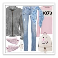 Soft colours by amisha73 on Polyvore featuring moda, Bella Freud, WearAll, Pierre Balmain, Puma, MICHAEL Michael Kors, Henry London, Toolally and Begg & Co