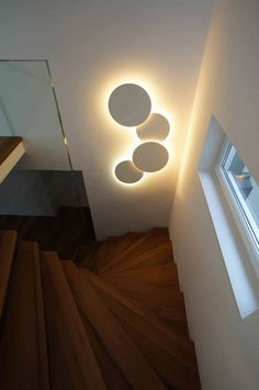 Interesting and Unique Lighting Design Ideas can always stand out and you can bring in some cool options if you're creative. Here top lighting design Interior Lighting, Home Lighting, Lighting Design, Staircase Lighting Ideas, Staircase Design, Home Room Design, Home Interior Design, House Design, Deco Luminaire