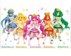 Pretty Cure Smile Precure Bandai Official Figure x 5 COMPLETE From JAPAN