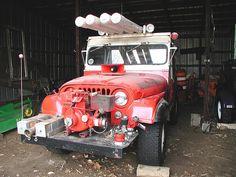 Jeep CJ-5 Fire Jeep with pumper