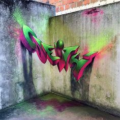 3D Graffiti by Odeith