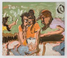 Jane Corrigan; Note, classroom, 2016; oil on gessoed paper; 5 x 6 in.