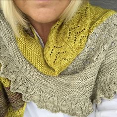 The lovely BeSoGood shawl by Helle Slente Design