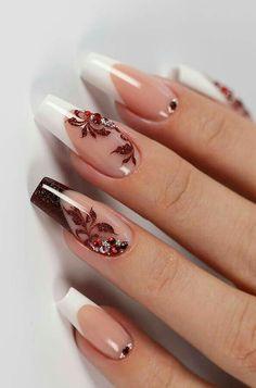 Disney Acrylic Nails, Simple Acrylic Nails, Acrylic Nail Designs, Nail Art Designs, Nails Design, Elegant Nails, Stylish Nails, Trendy Nails, Cute Nails