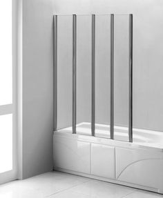 Tub Screen LineaAqua Citron L 36 X 61 Folding Bath Tub Enclosure Bath Tub  Glass Screen With 4 Panel Folding Swing Door