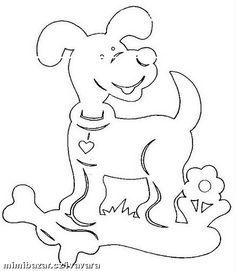 S dětmi můžeme vystřihávat zvířátka, které použijeme do oken nebo třeba k nalepování.... Paper Cutting Patterns, Stencil Patterns, Cut Animals, Scroll Saw Patterns, Dog Pattern, Kirigami, Chinese New Year, Wood Carving, Decoupage