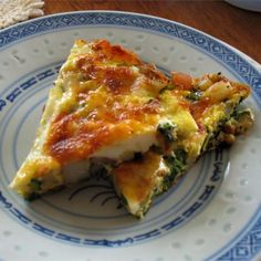 """Spinach and Potato Frittata 
