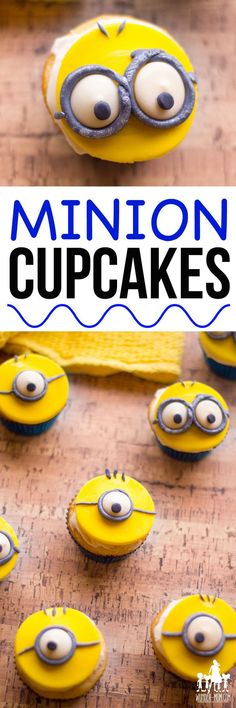 MINION CUPCAKES FOR MINION PARTY #minions #party #partyideas #cupcakes #despicableme #kids #kidsparty #dessert #dessertrecipes