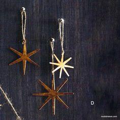 Roost Starburst Brass Ornaments & Garland – Modish Store