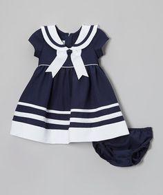 Loving this Gerson & Gerson Navy & White Nautical Dress & Diaper Cover - Infant & Toddler on Baby Girl Fashion, Toddler Fashion, Kids Fashion, Nautical Outfits, Nautical Dress, Toddler Dress, Baby Dress, Infant Toddler, Little Girl Dresses