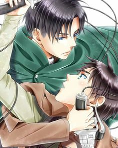 Image shared by Şħouŧo. Find images and videos about attack on titan, shingeki no kyojin and levi on We Heart It - the app to get lost in what you love. Ereri, Eren Y Levi, Attack On Titan Ships, Attack On Titan Levi, Good Anime Series, Pokemon, Fan Anime, Cartoon Background, Levi Ackerman