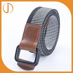 high quality cotton canvas best leather woven belt mens with multicolor