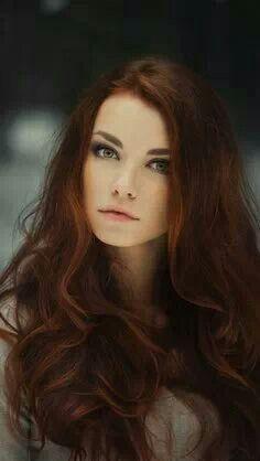 Redbrown hair