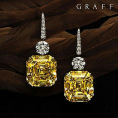 Unique Jewels: Graff is renowned for rare coloured stones, particularly Yellow Diamonds, such as The Gemini Yellows – an extremely rare pair of square emerald-cut Fancy Intense Yellow Flawless Diamonds, each over 50cts, currently on display at the Doha exhibition. Graff Diamonds.