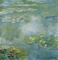 Water Lilies Completion Date: 1907 Style: Impressionism Series: Water Lilies Genre: flower painting