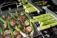 Two Must-Have Grilling Tools | The basket is perfect for meats, seafood, vegetables, fruit, and even all-in-one-meals. The fine-gauge mesh keeps smaller foods from falling through and allows foods to cook evenly.  - Foodista.com
