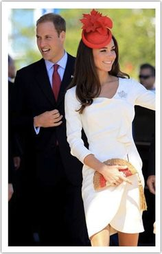prince william & kate middleton.. double love with the white!