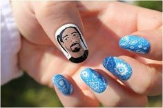 This could only be better if it were painted onto Snoop Dogg's own nails. | Community Post: 21 Times Music Fans Won The Nail Art Game