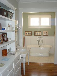 "Bathing ""room"" - the shower is located to the left of the tub. 229 Brook Master Bathroom 
