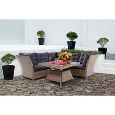 OBI Esstisch-Lounge-Gruppe Madison 4-teilig