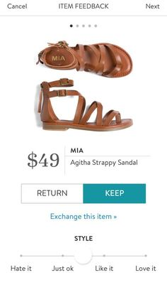 MIA Agitha Strappy Sandal from Stitch Fix. I love Stitch Fix! A personalized styling service and it's amazing!! Simply fill out a style profile with sizing and preferences. Then your very own stylist selects 5 pieces to send to you to try out at home. Keep what you love and return what you don't. Only a $20 fee which is also applied to anything you keep. Plus, if you keep all 5 pieces you get 25% off! Free shipping both ways. Schedule your first fix using the link below! #stitchfix…