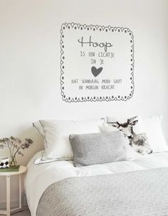 Muursticker Hoop,Muursticker Life is too short,Muursticker In these Moments… Cozy Bedroom, Dream Bedroom, Happiness Is Homemade, Inspiration Wall, Spare Room, 3d Letters, Wall Quotes, Decoration, Home And Living