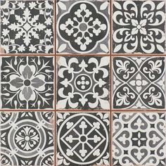 Peronda FS Faenza Classic Vintage Spanish Tile They are the perfect tiles in the hallway. Very easy to lay. The patterns are mixed and fool many into thinking they were all laid separately. Best of all, they do not show dirt and are very easy to clean. Deco Design, Tile Design, Design Blog, Wall And Floor Tiles, Wall Tiles, Cement Tiles, Tiles Direct, Vintage Tile, Diy Vintage
