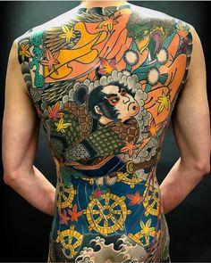 japanese tattoos meaning Japanese Back Tattoo, Japanese Tattoo Designs, Fox Tattoo, Tatoo Art, Full Body Tattoo, Body Art Tattoos, Chef D Oeuvre, Oeuvre D'art, Kabuto Samurai