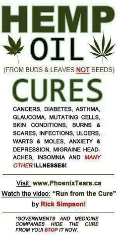 hemp oil cures... This is a huge part of my life. Get well everyone