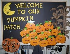 welcome to our pumpkin patch bulletin board - MyClassroomIdeas.com