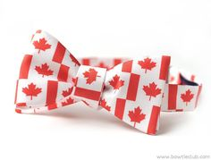 Canada Flag Bow Tie http://www.bowtieclub.com/collections/new-bow-ties/products/maple-leaf-canada-flag-bow-tie #bowtie #bowtie #canada #mapleleaf #flag