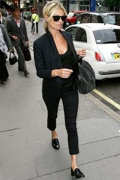 kate moss all black