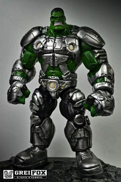 Indestructible Hulk custom action figure from the Marvel Legends series using hulk as the base, created by greifoxcustoms.