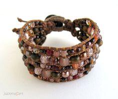 Handmade, Cuff Boho style Bracelet by JustynaSart, £32.99
