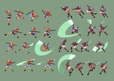 """ina"""" by Styleos on deviantART Sprites, Animation Reference, Art Reference, Games Design, Character Art, Character Design, 2d Character Animation, Fighting Poses, Pixel Animation"""