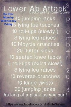 Lower abs are always tough! Here are some good ones!