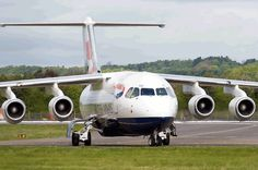 British Airways BAe 146 Atlanta Usa, British Aerospace, Air Lines, British Airways, Aeroplanes, Private Jet, Britain, Fighter Jets, Aviation