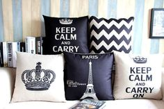 Classic-Eiffel-Tower-Zigzag-Square-Linen-Pillow-Case-Cushion-Cover-Sham-18-x18