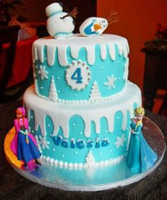 Of course Natalie wants a Frozen cake...this one seems to be on the simpler side