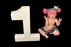 Zebra Print Pom  Pom Jester Hat  and Skirt Set - Great Photography Prop. $35.99, via Etsy.