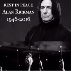 Rest in peace Alan Rickman❤️ you will always be in our hearts