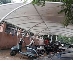 Tensile Structure, Tensile Car parking, Fabric structure in Delhi, India Membrane Structure, Tensile Structures, Awning Canopy, Fabric Structure, Walkway, Car Parking, Gazebo, Swimming Pools, Shed