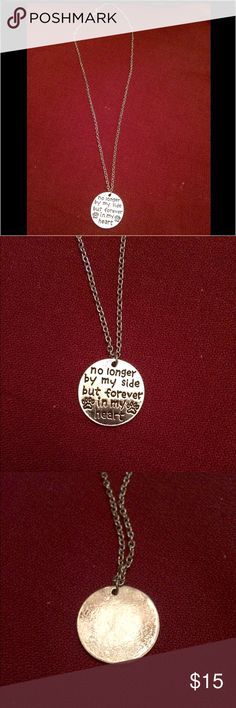 "❤️A Necklace Close to My Heart❤️20.5"" Silver Chain 🐶A PET TRIBUTE🐶 I lost a pet that I was EXTREMELY Close to Recently so when I saw this I had to have it and bought a couple extra.  Mine is currently being engraved with Jake on the back.  Will show pics when I get it back. Jewelry Necklaces"