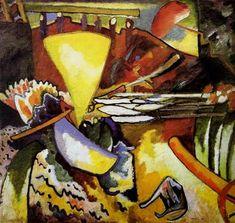 Painter Wassily Kandinsky. Painting. Improvisation 11. 1910 year