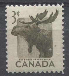 Canada #323 3c Brown Moose VF 75/80 NH